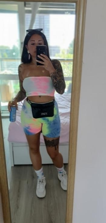 Tumblebee Clothing Tie Dye For Tube Top Biker Short Set Review