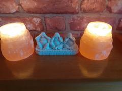The Psychic Tree Orange Selenite Mountain Tea Light Lamp Review