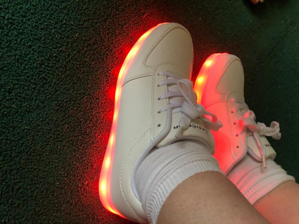 Flashez LED Trainers - White Classics