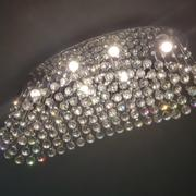 7PM Home Rain Drop Crystal Chandelier with Oval Ceiling Base Review