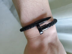 Elevated Faith Classic Black Leather Nail Bracelet Review