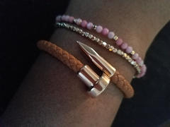 Elevated Faith Cocoa + Rose Gold Leather Nail Bracelet Review