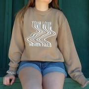 Elevated Faith Love Never Fails Unisex Crewneck Review
