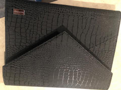 Maniology Faux Leather Envelope Style XL Nail Stamping Plate Organizer Case-Black Croc Review