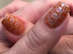 Maniology Autumn Blossom: Chrysanthemum (B302) Burnt Orange Stamping Polish Review