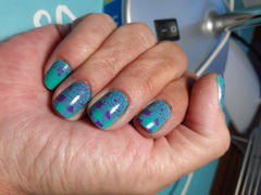 Maniology Mani x Me December 2019: Turquoise (B324) - Green Stamping Polish Review