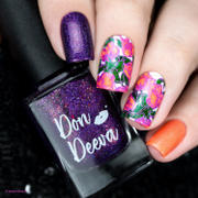 Maniology Botanicals XL: Garden Party / Desert Rose (m067) - Nail Stamping Plate Review
