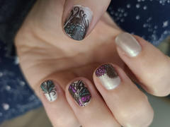 Maniology Mystic Woods: Leafy Feathers/Butterfly Wings (m127) - Nail Stamping Plate Review