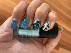 Maniology Artist Collaboration: Glitterfingersss (m159) - Nail Stamping Plate Review