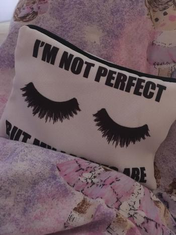 Boots N Bags Heaven Im Not Perfect But My Lashes Are Full-Print cute MakeUp Bag With Sayings Review
