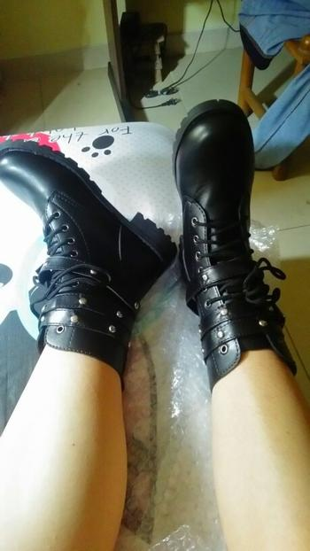 Boots N Bags Heaven Lace-Up Belts Gothic Boots Review