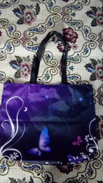 Boots N Bags Heaven Foldable Purple Butterfly Tote Bag Review