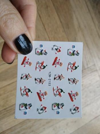 Boots N Bags Heaven Christmas Galore Holiday Themed Water Nail Art Decal Review