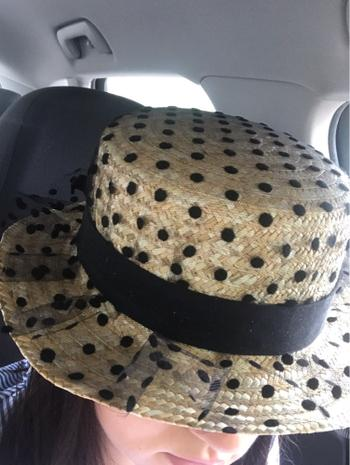 Boots N Bags Heaven Summer Straw Hat With Black Lace Polka-Dot Design Review