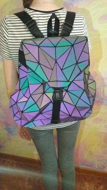 Boots N Bags Heaven Luminous Holographic Geometric Backpack Review