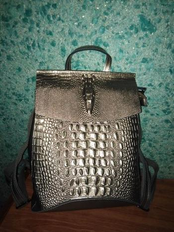 Boots N Bags Heaven Crocodile Prints Leather Split Backpack Review