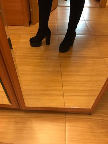 Boots N Bags Heaven High-heeled Platform Black Ankle Boots Review