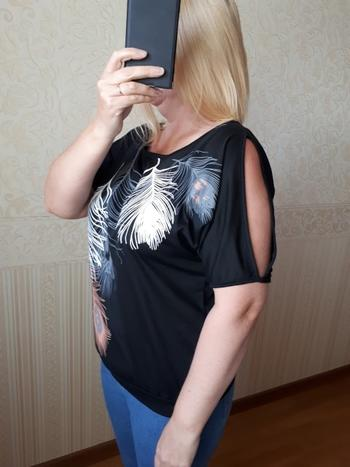 Boots N Bags Heaven Athena - Casual and Loose Cold-Shoulder Feather Summer Top [EU Sizes] Review