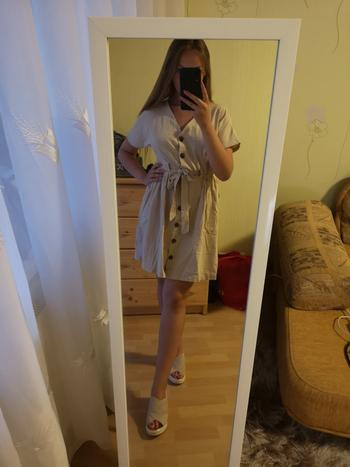 Boots N Bags Heaven Sandra - Vintage V-Neck Button-Up Dress Review
