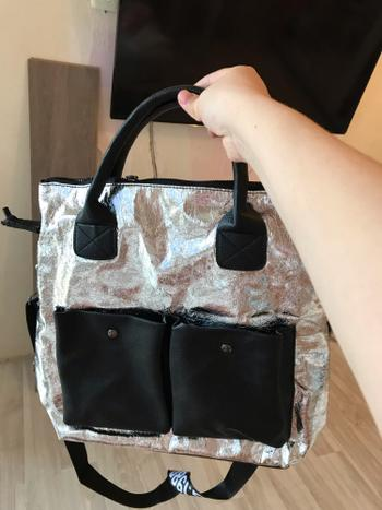 Boots N Bags Heaven Metallic Crack Designed Hand Bag Review