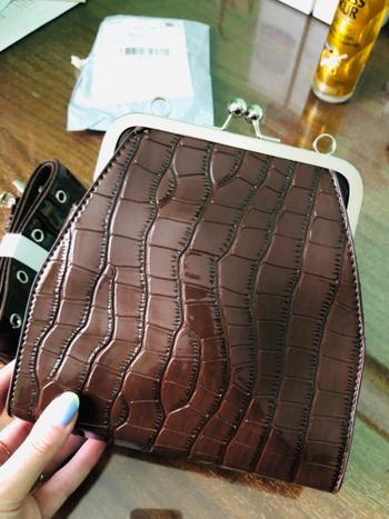 Boots N Bags Heaven Retro Crocodile Pattern Clutch Shoulder Bag Review