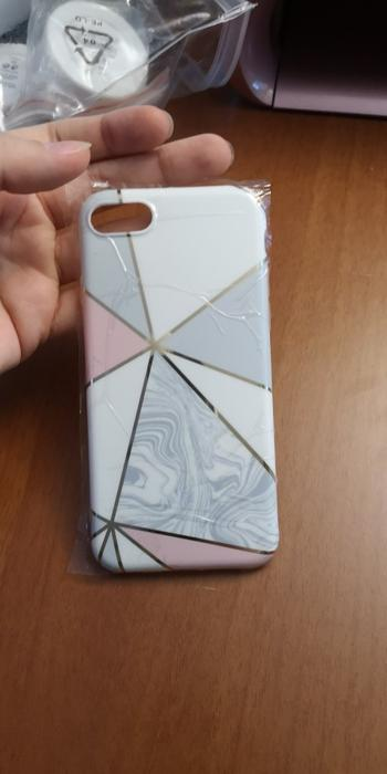 Boots N Bags Heaven Gold Lined Geometric Marble Case for iPhone Review