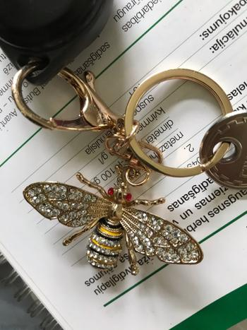 Boots N Bags Heaven Bejeweled Bumblebee Elegant Keychain Review