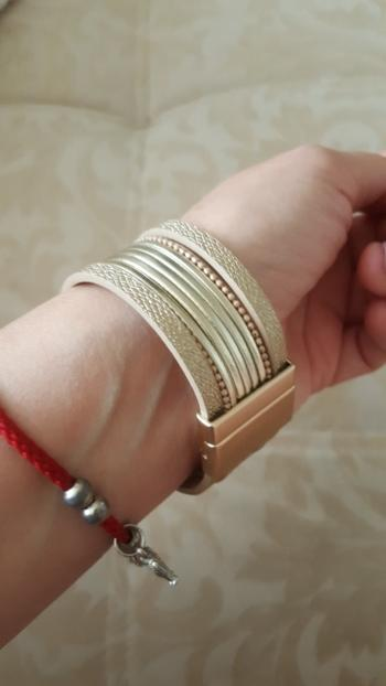 Boots N Bags Heaven Captivating Multi-Layer Leather Bracelets With Boho Metal Crystal Wrap Review