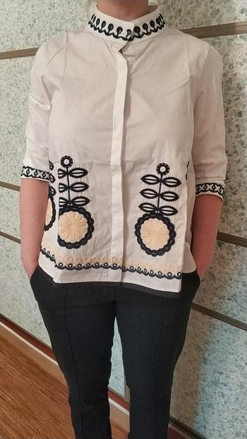 Boots N Bags Heaven Summer Fashion 3/4 Sleeve Embroidery Casual Blouse Review