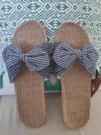 Boots N Bags Heaven Trendy Summer Striped Bow-Knot Flip Flops Slippers Review