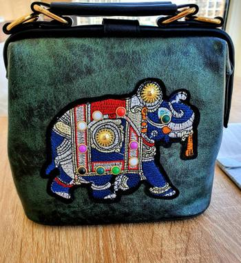Boots N Bags Heaven Embroidered Elephant and Butterfly Top Handle Crossbody Handbag Review
