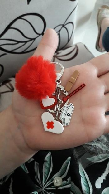 Boots N Bags Heaven Cute Medical Nurse Pompom Keychain Review