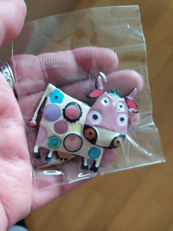 Boots N Bags Heaven Creative Cartoon Cow Enamel Brooch Pins For Kids Review