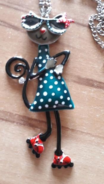 Boots N Bags Heaven Playful Cat Enamel Pendant Necklace For Kids Review