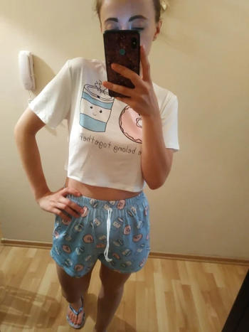Boots N Bags Heaven Cute Crop Top and Shorts Sleepwear Set Review