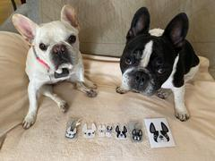 French Bulldog Love Black & White Pied / Large French Bulldog Sticker Review