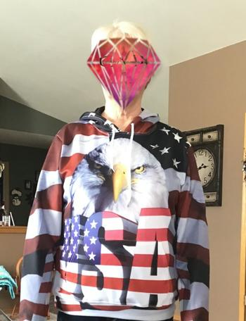 Galaxy Teez Big USA Eagle 3D Hoodie Review