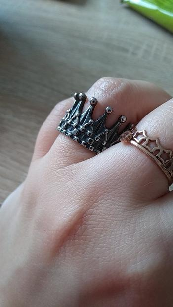 Galaxy Teez Vintage Stainless Steel Crown Ring Review