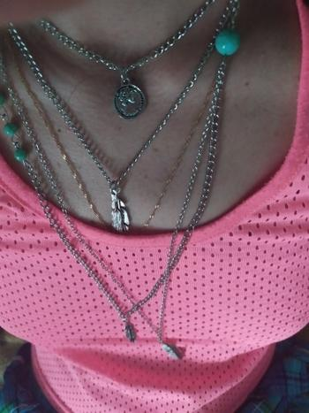 Galaxy Teez Bohemian Multi-layer Feathers and Charms Necklace Review