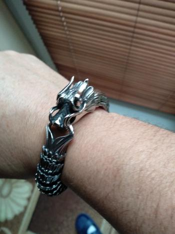 Galaxy Teez Stainless Steel Dragon Head and Scales Link Bracelet Review