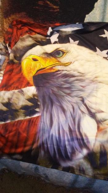 Galaxy Teez Exclusive: Eagle USA Flag 3D T-Shirt Review