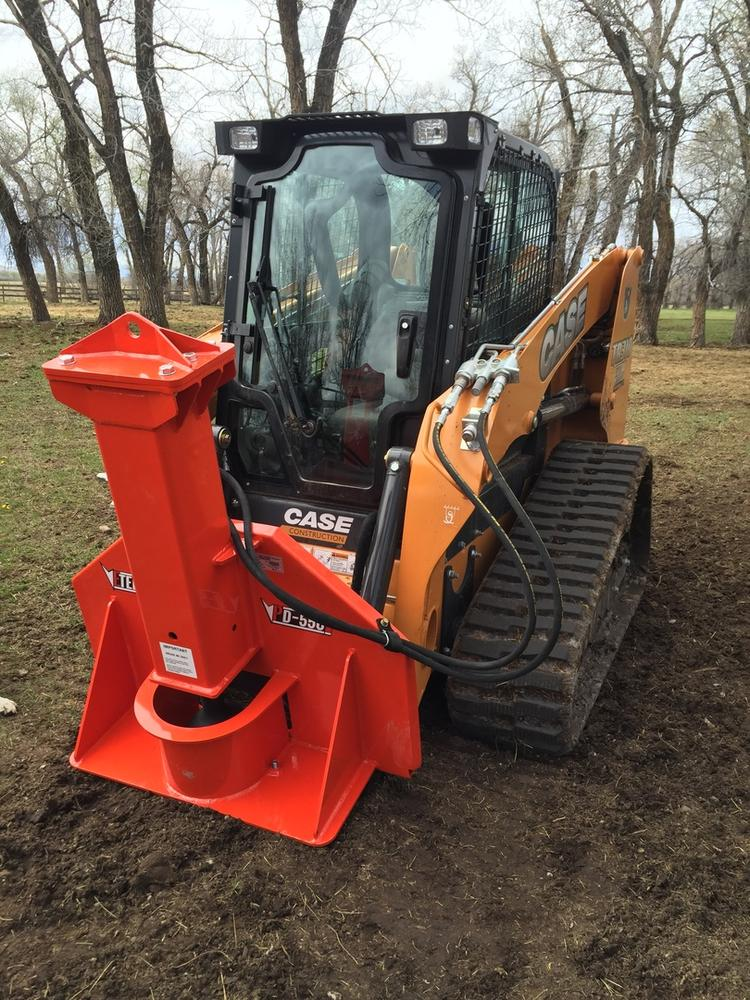 PDX 750 Breaker Style Skid Steer Post Driver Attachment