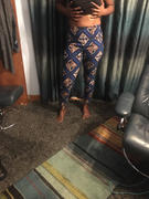 D'IYANU Safina African Print Fitted High-waisted Pants (Blue Tan Diamonds) Review