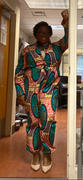 D'IYANU Eniola African Print Button-Up Jumpsuit (Orange Teal Ovals) - Clearance Review