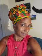 D'IYANU African Print Head Wrap/Scarf (Yellow Green Kente) Review