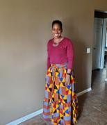 D'IYANU Nyah African Print Maxi Skirt With Tie (Gold Red Kente) Review