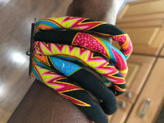 D'IYANU Asabi Women's African Print Layered Bangle Bracelet (Black Sunbursts) Review