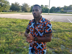 D'IYANU Deion African Print Short Sleeve Button Up (Navy Orange Tiles) Review