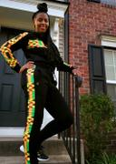 D'IYANU Sare African Print Color Blocked Crop Hoodie (Black/Gold Maroon Kente) Review