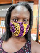 D'IYANU Uzo African Print 2 Layer Reusable Face Mask (Gold Purple Circles) Review